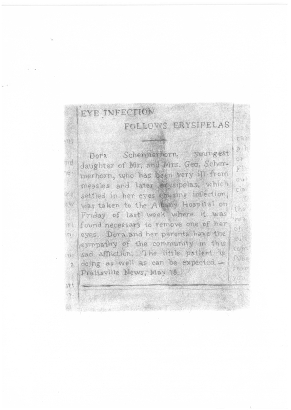 Prattsville Drawings, Schermerhorn newspaper